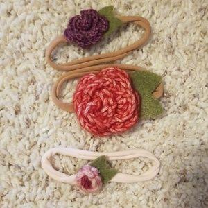 Other - Baby girl headband hair bows Head wraps